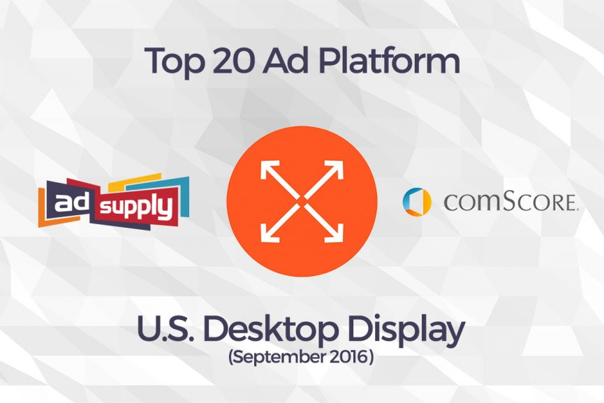 AdSupply - comScore - Top 20 Ad Platform - Desktop Display - Featured
